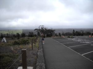 You can see in the background, the line where lava has flowed recently and not