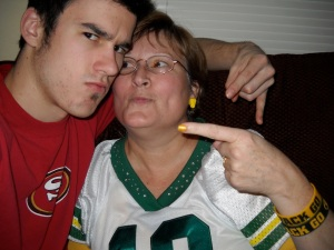 Yes, I live with two 49er's fans - but it doesn't reduce my Packer excitement! (c) Melanie Pruitt 2012